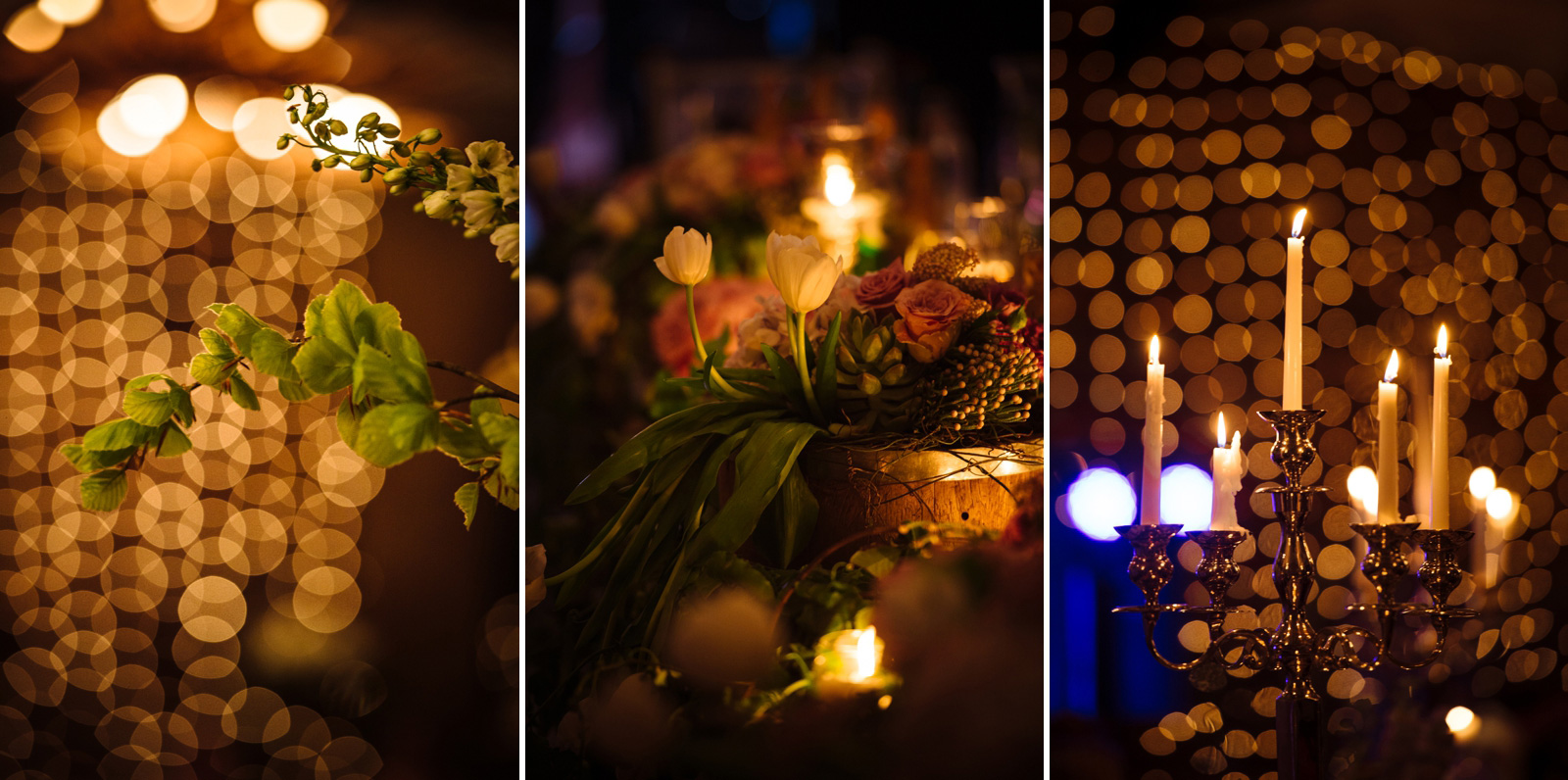 night wedding decor