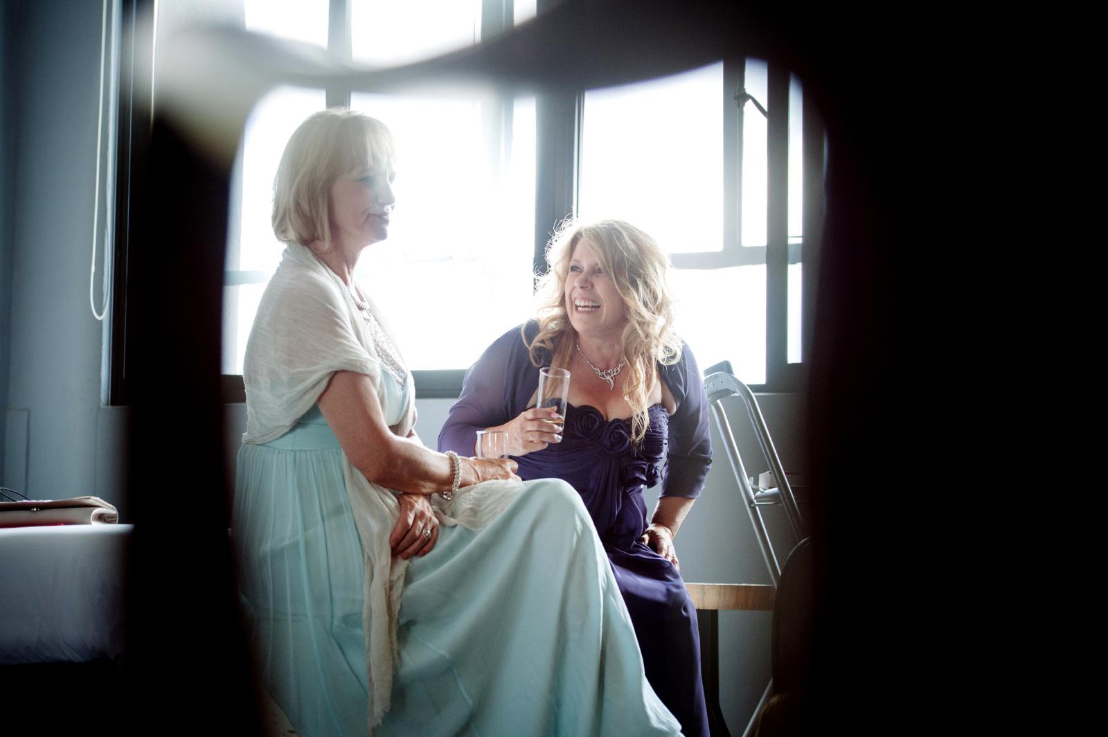 women at a wedding