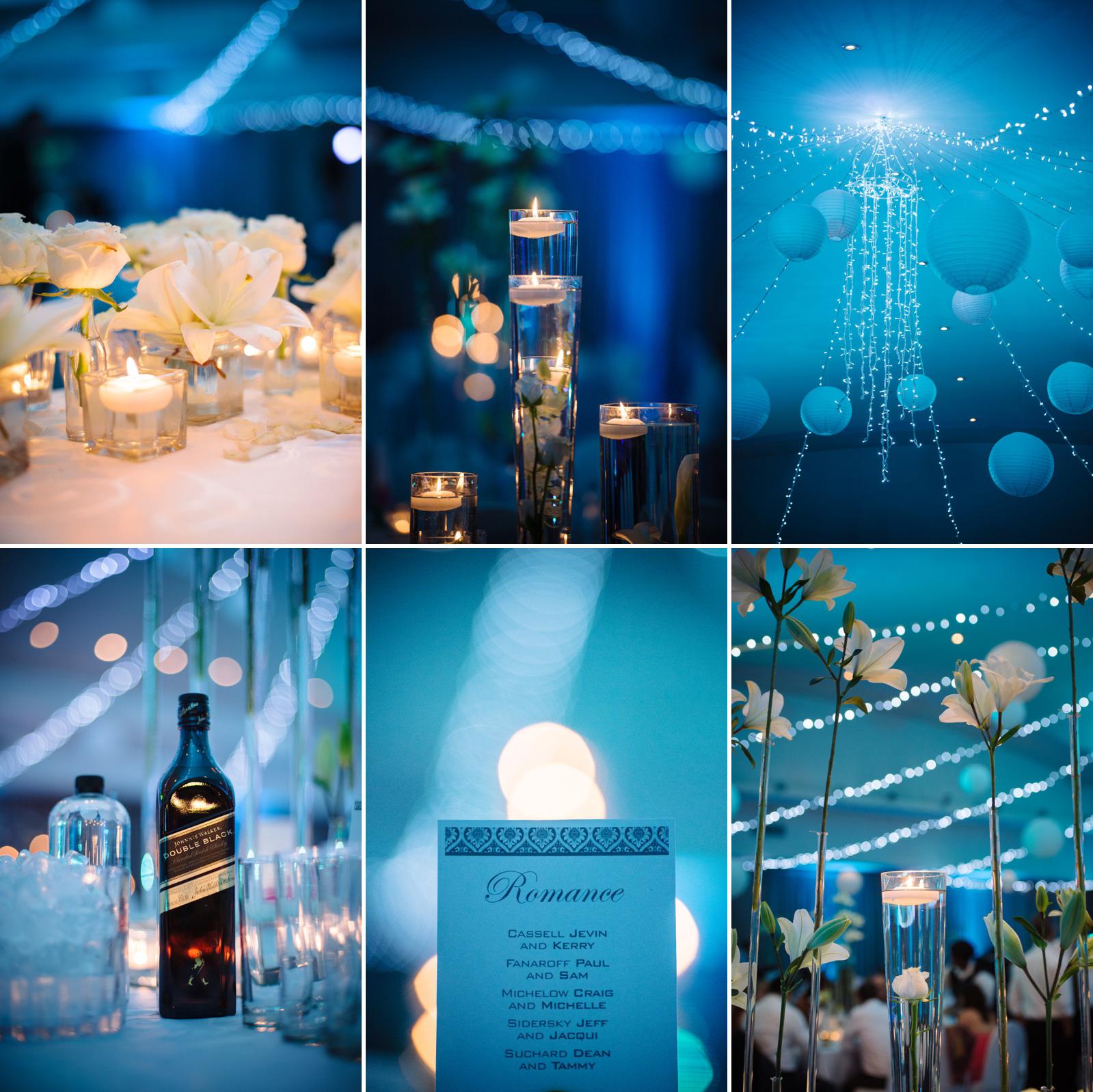blue wedding decor