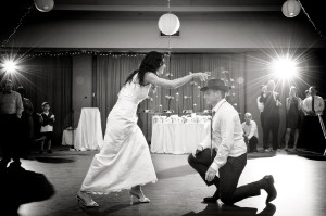 bride dancing for groom