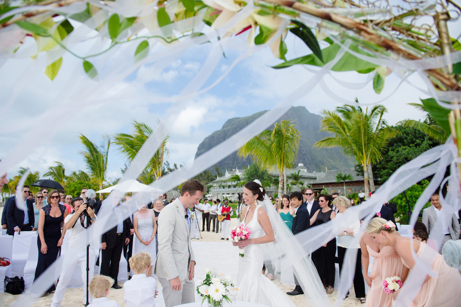 windy beach wedding
