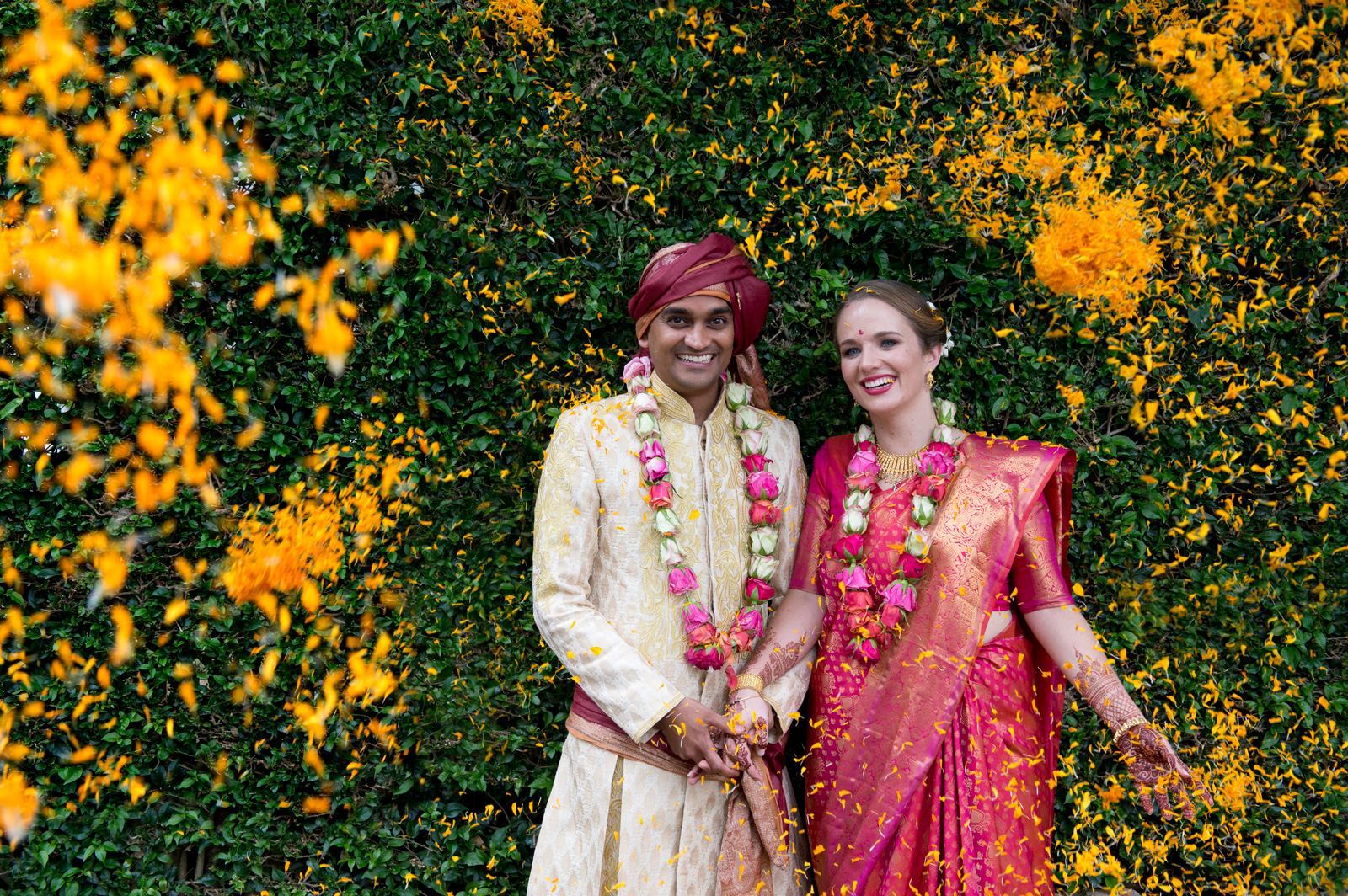 Hindu Christian Wedding Documentary Wedding Photographer Couple