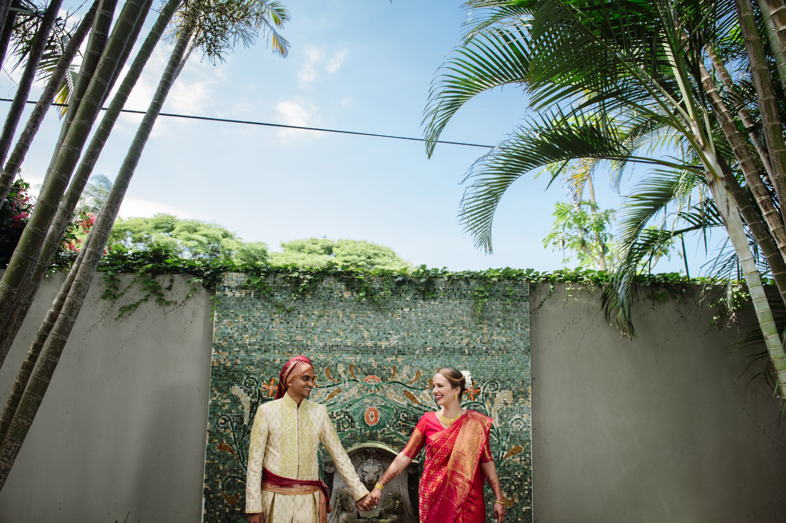 Hindu Christian Wedding Documentary Wedding Photographer Bride and Groom