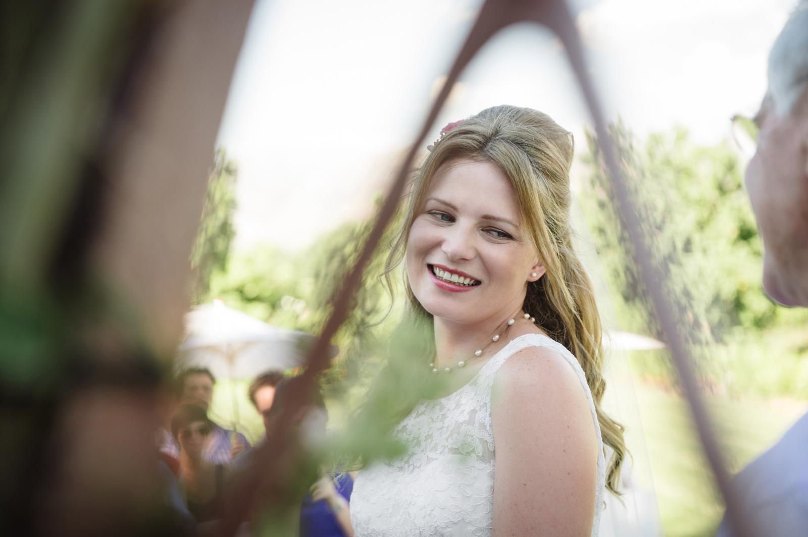 Vrede en Lust Cape Wedding Documentary Wedding Photography Ceremony Bride