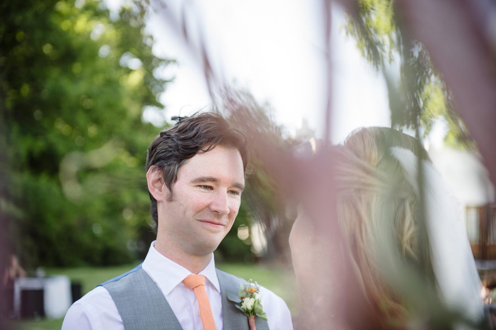 Vrede en Lust Cape Wedding Documentary Wedding Photography Ceremony Groom