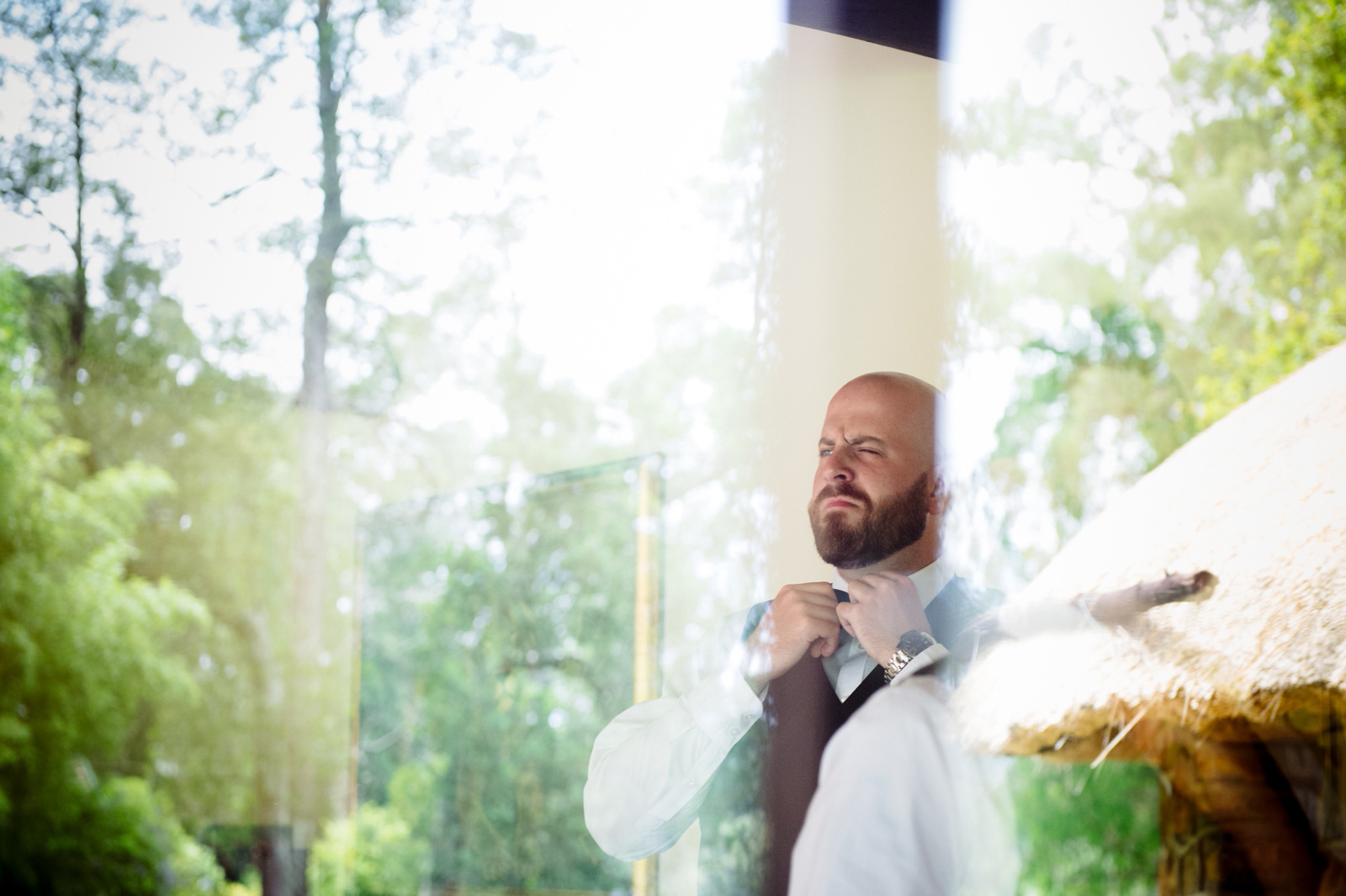 Cranford Country Lodge Documentary Wedding Photography Groom