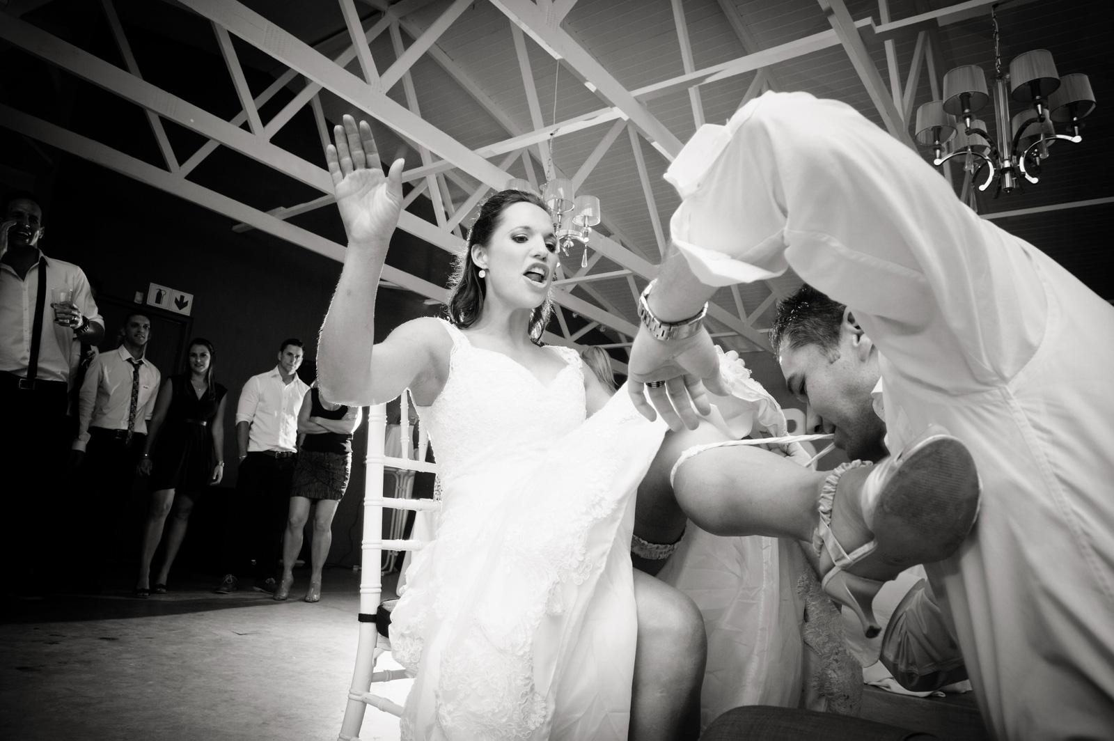 Talloula Documentary Wedding Photography Reception Garter
