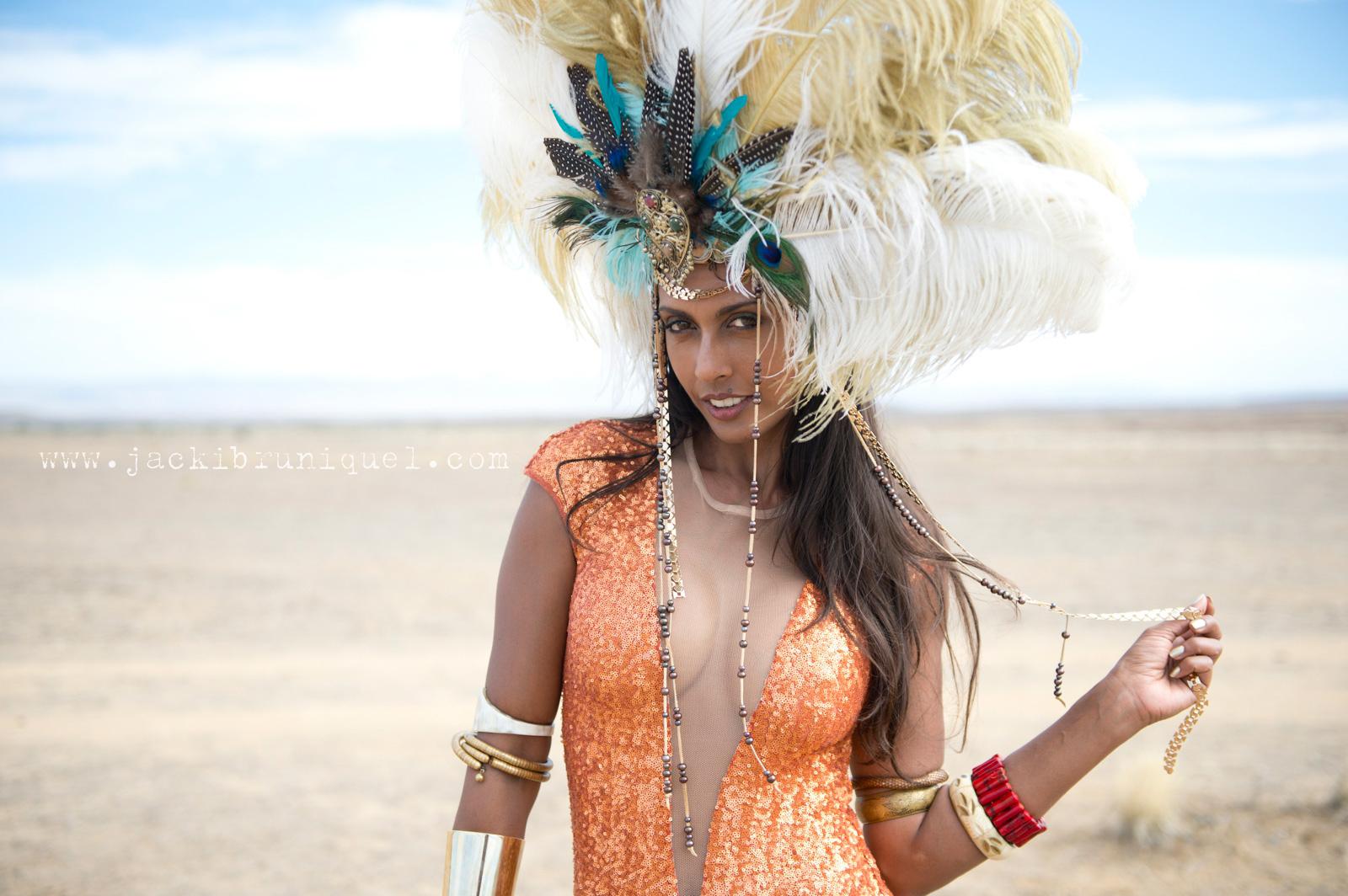 AfrikaBurn Tankwa Feather Headdress