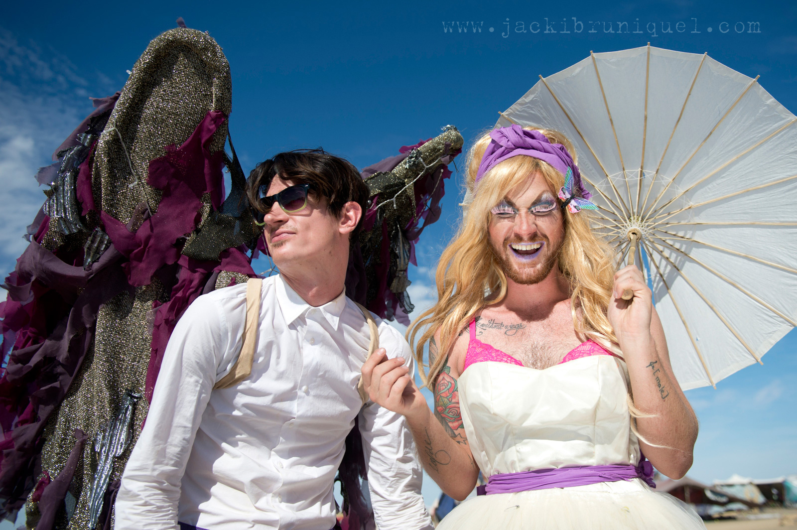 AfrikaBurn Tankwa purple wedding