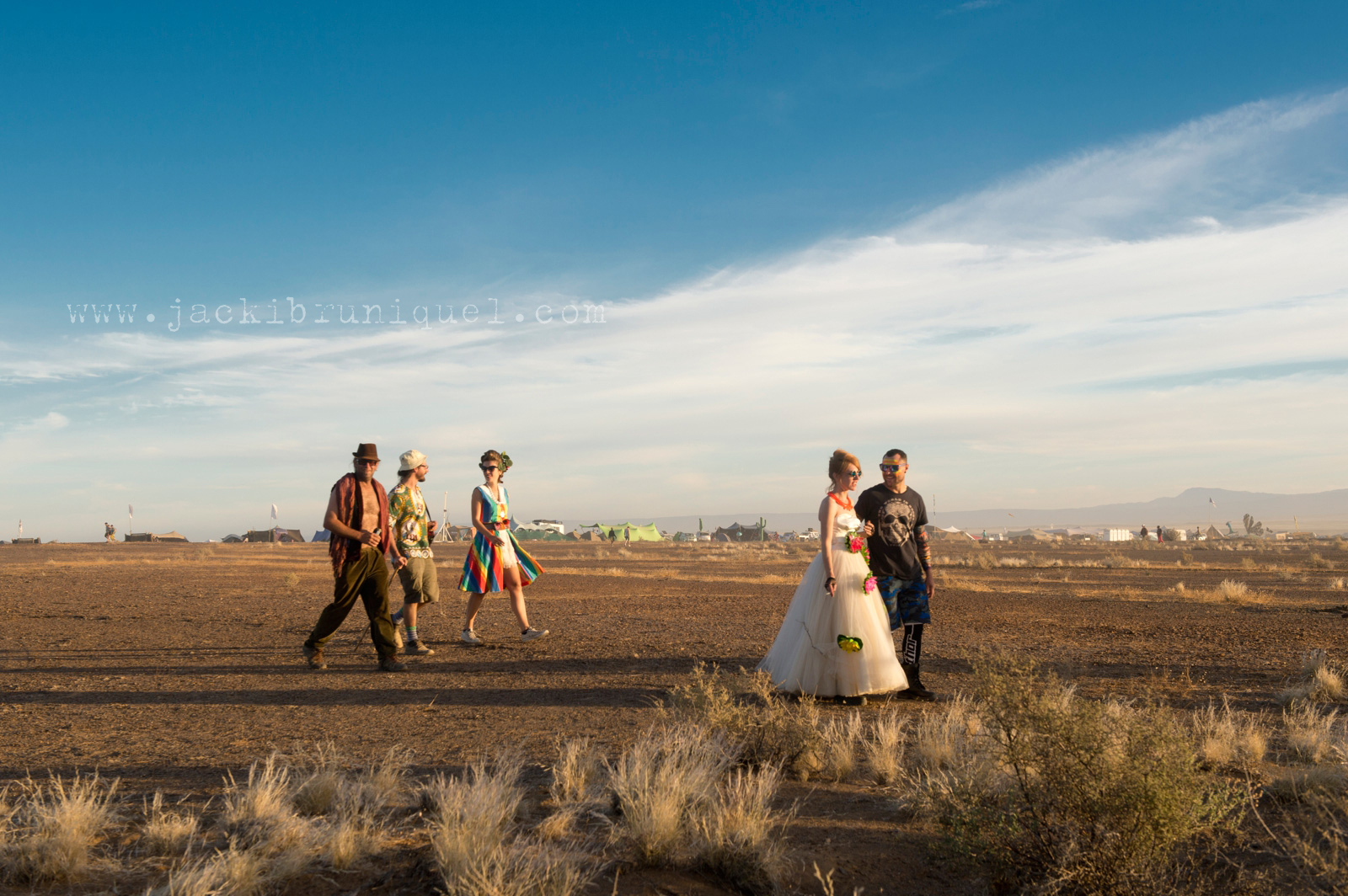 AfrikaBurn Tankwa wedding dress