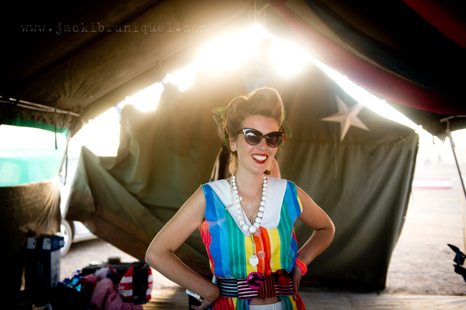 AfrikaBurn Tankwa rainbow dress