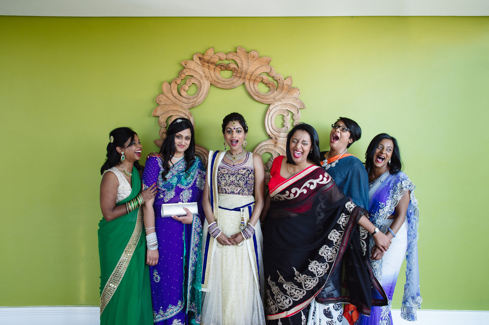 indian bride and bridesmaids