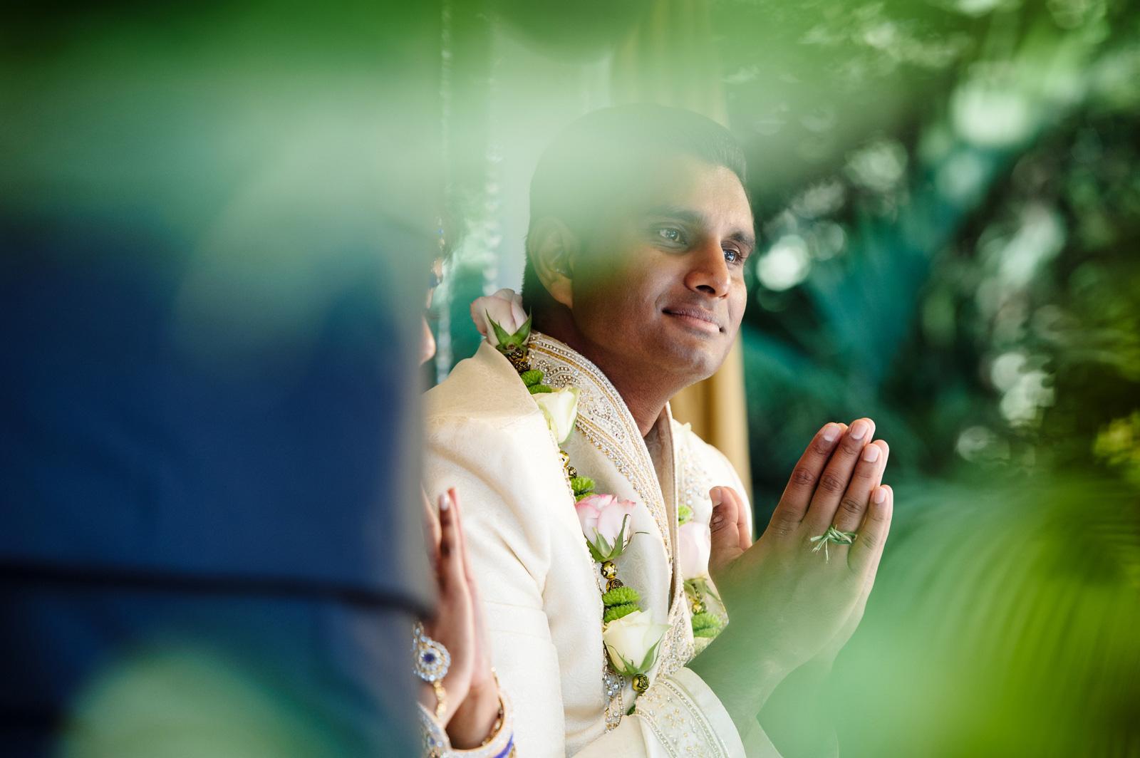 groom praying