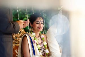 bride at wedding ceremony