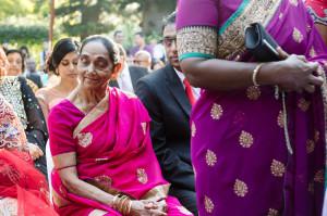 grandmother at wedding ceremeony
