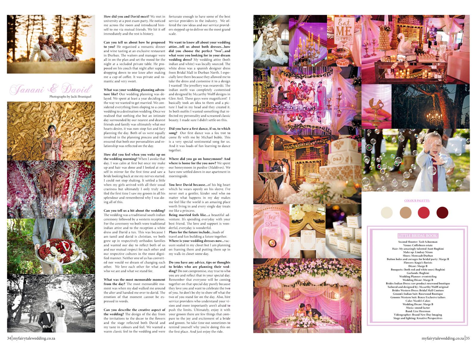 wedding in magazine
