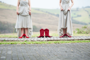 red boots for a wedding