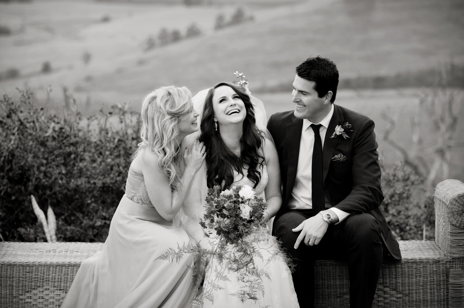 bride with siblings