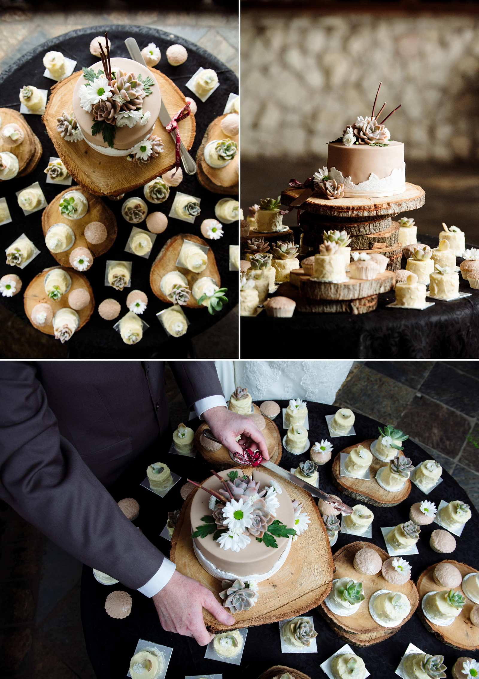 bush wedding cake