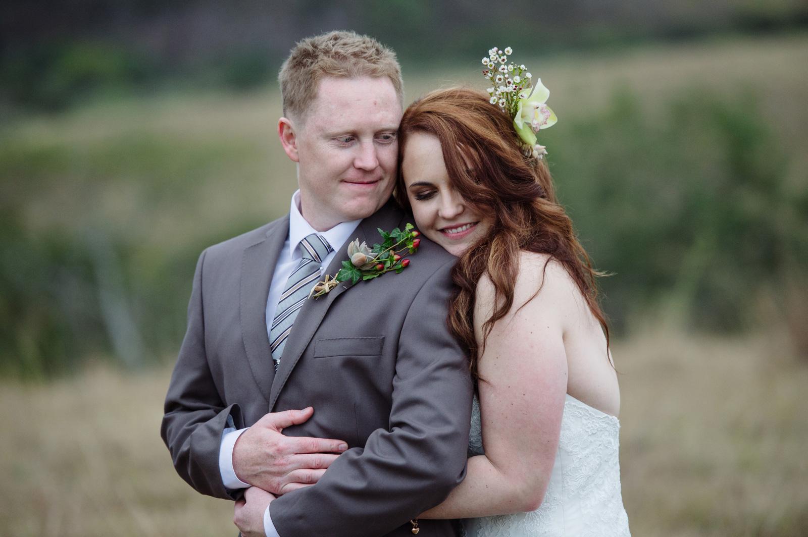 bride hugs groom