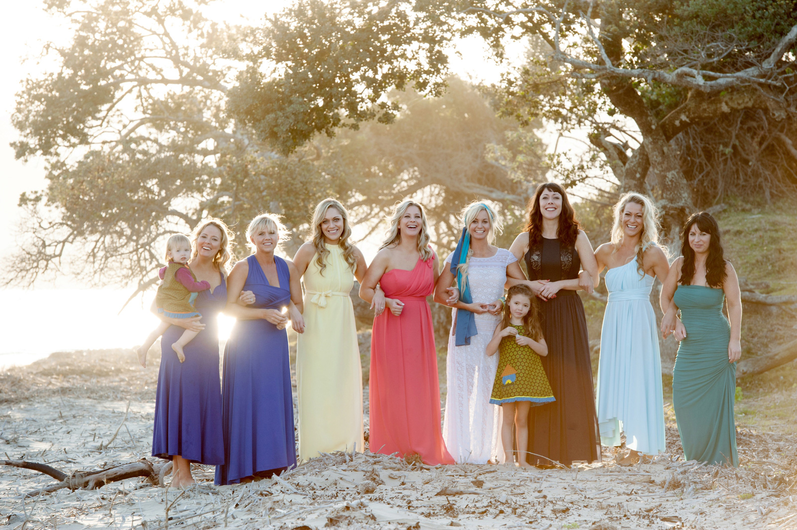 bohemian beach weding bridesmaids