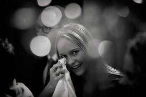 Girl crying of joy