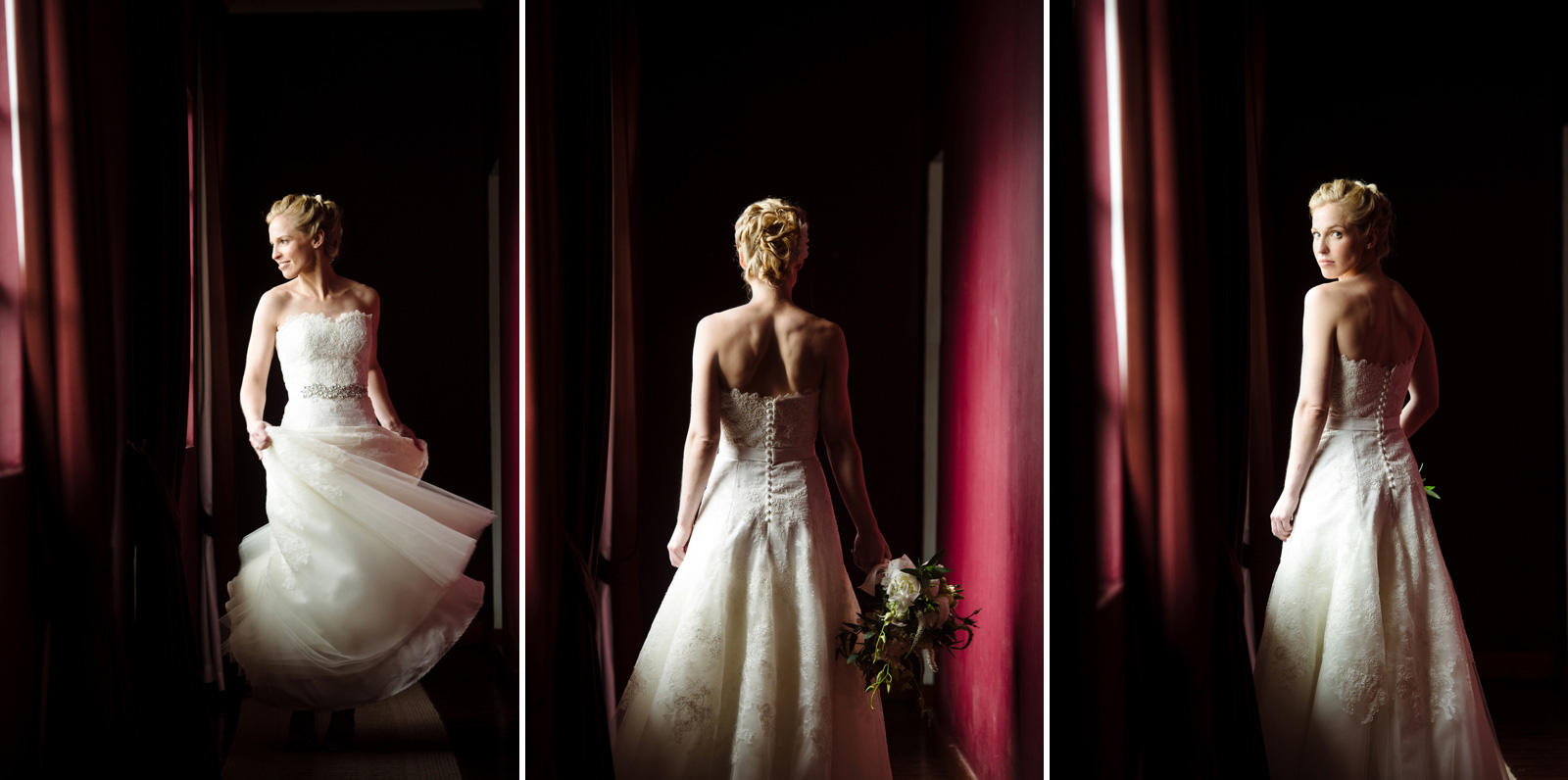 Dark bridal portraits