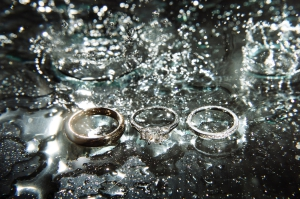 Rings in the rain