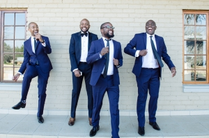 Men in suits dancing
