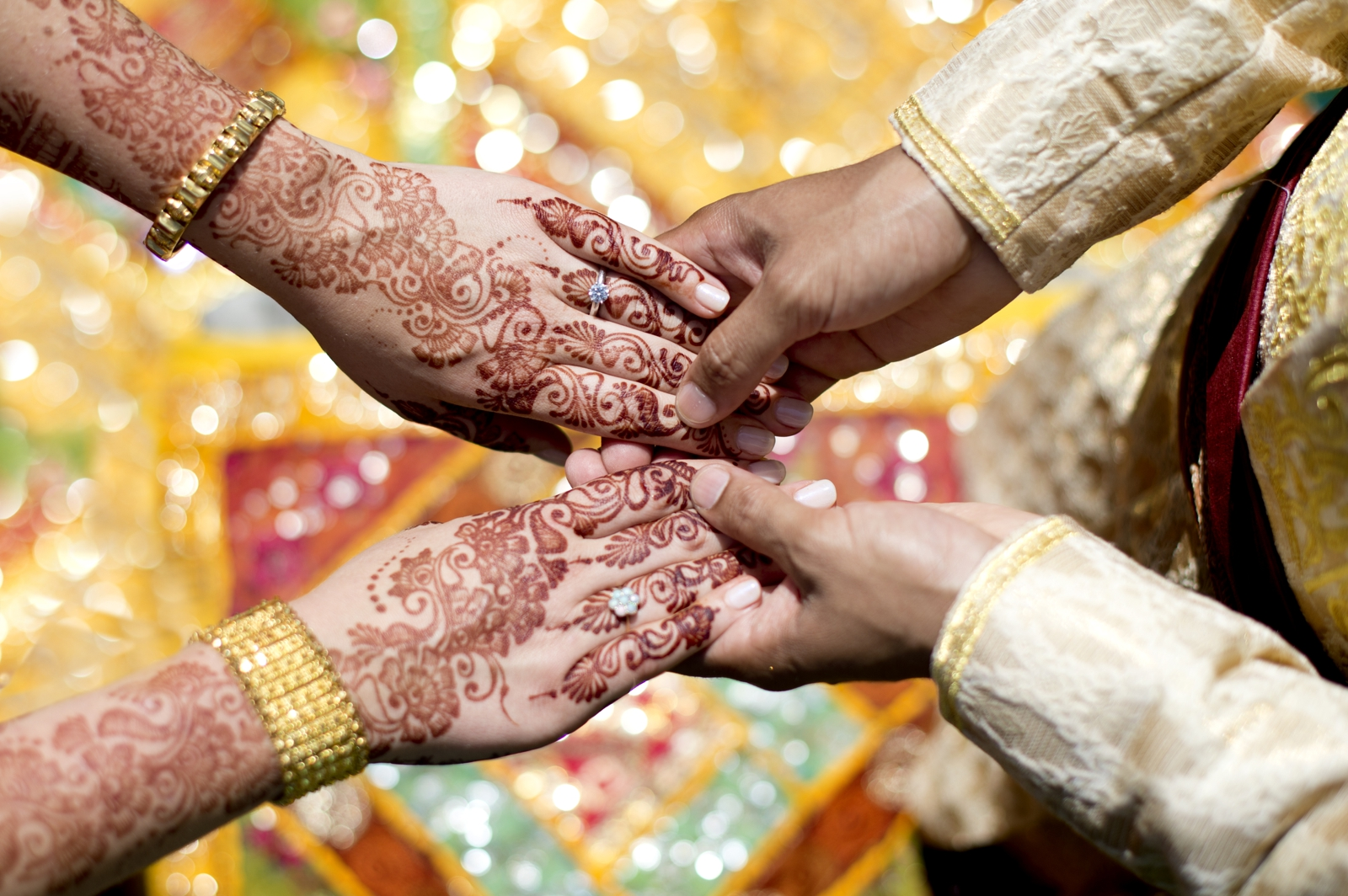 Hindu Wedding Mendhi Hands