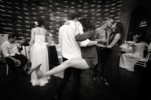 Drunk couple dancing