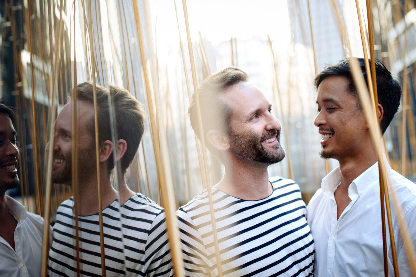 Men in reeds