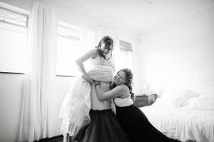 Sister dressed Bride
