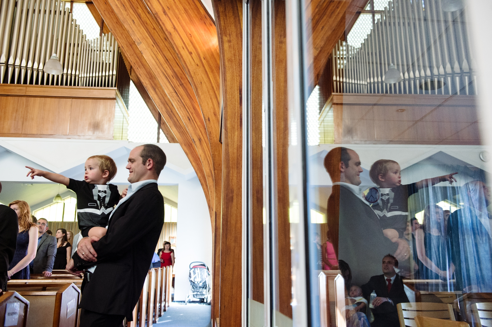 Father and Son in church