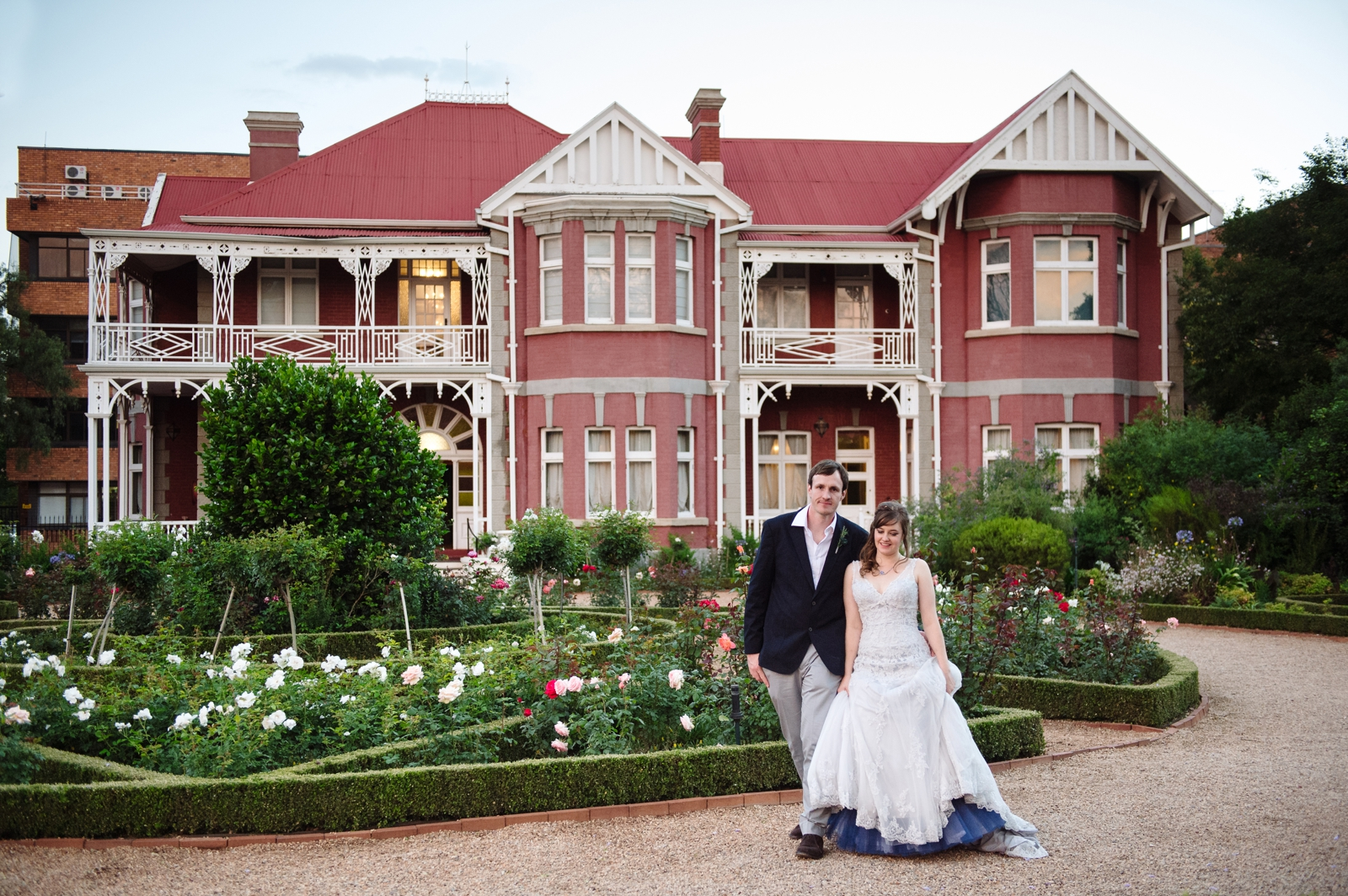Bride and Groom at Scottish House