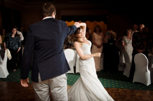 Bride and Groom first dance spin