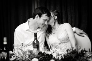 Bride and Groom sweet nothings