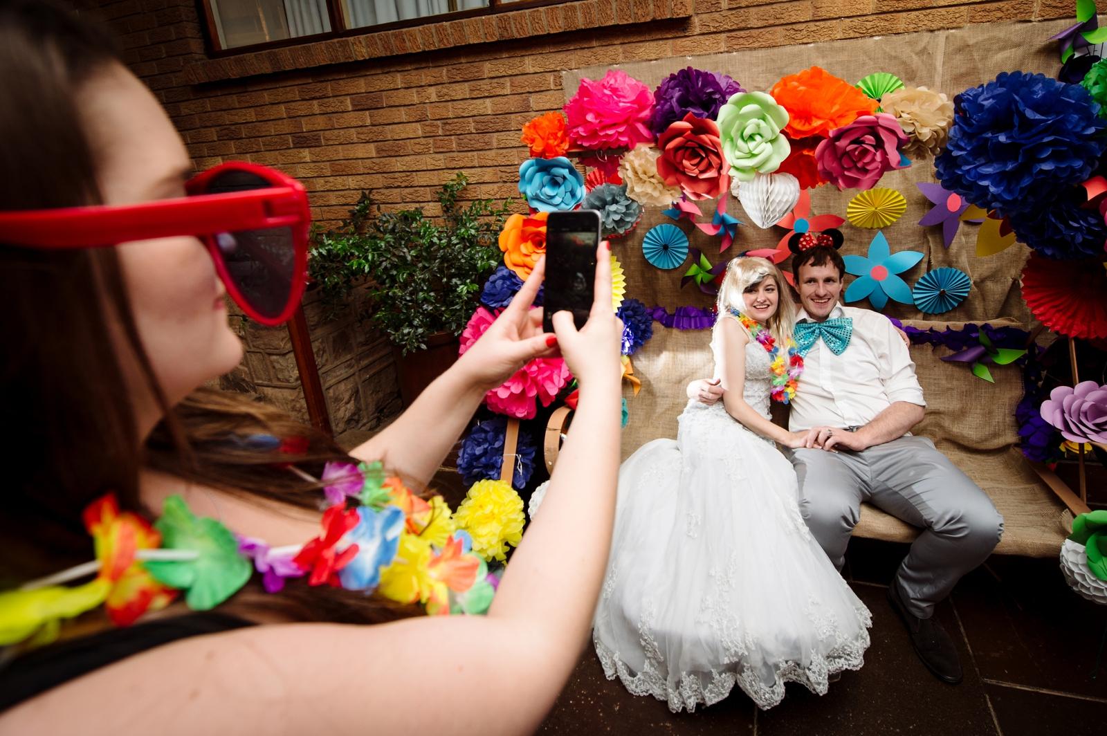 Bride and Groom selfie booth