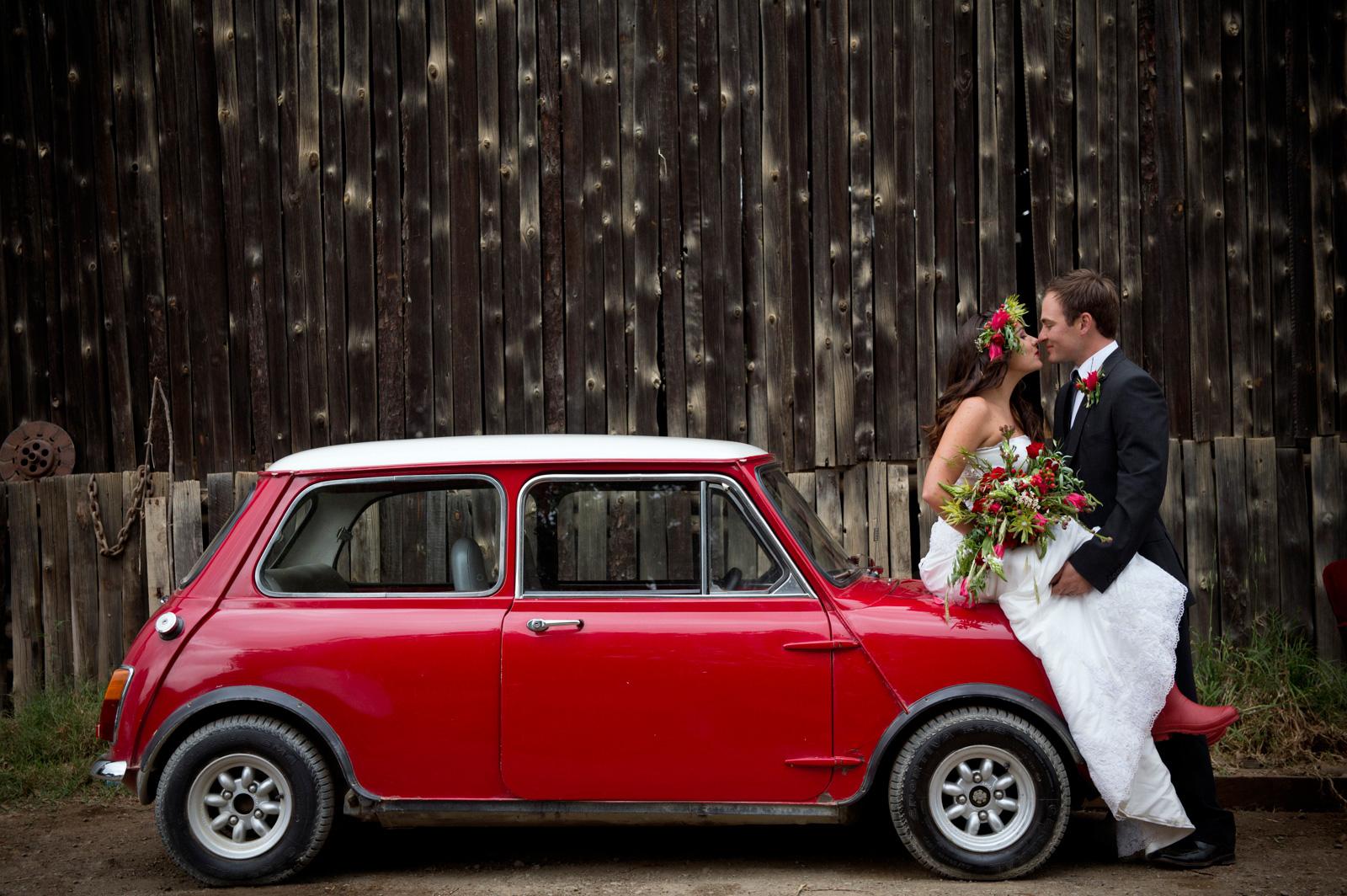 Bride and Groom on Mini