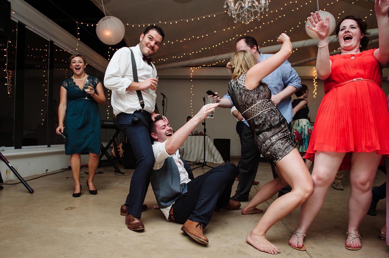 Drunk dancing at weddings