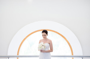 Bride with halo