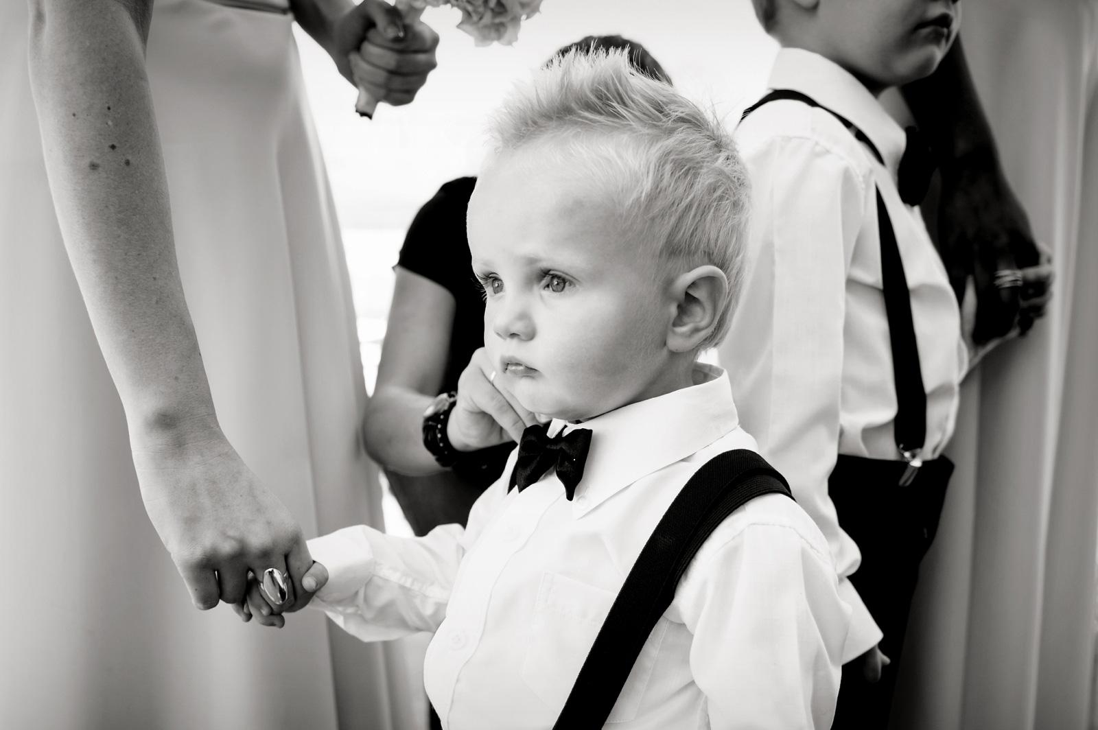 child in tux