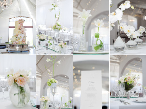 White Orchid Wedding Decor