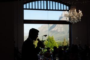 Groom with wedding venue