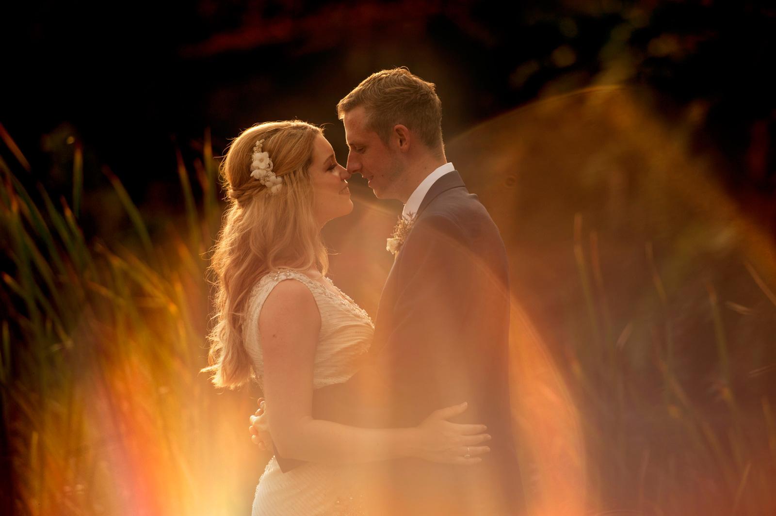 Sun flare and couple Zimbali
