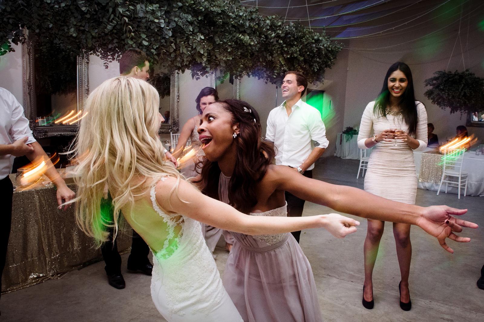 Drunk wedding dancing