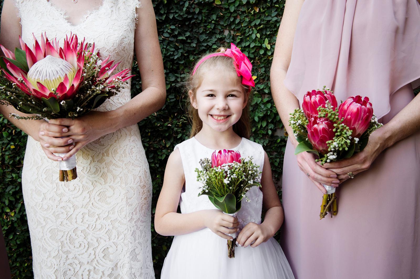 Smiling flowergirl