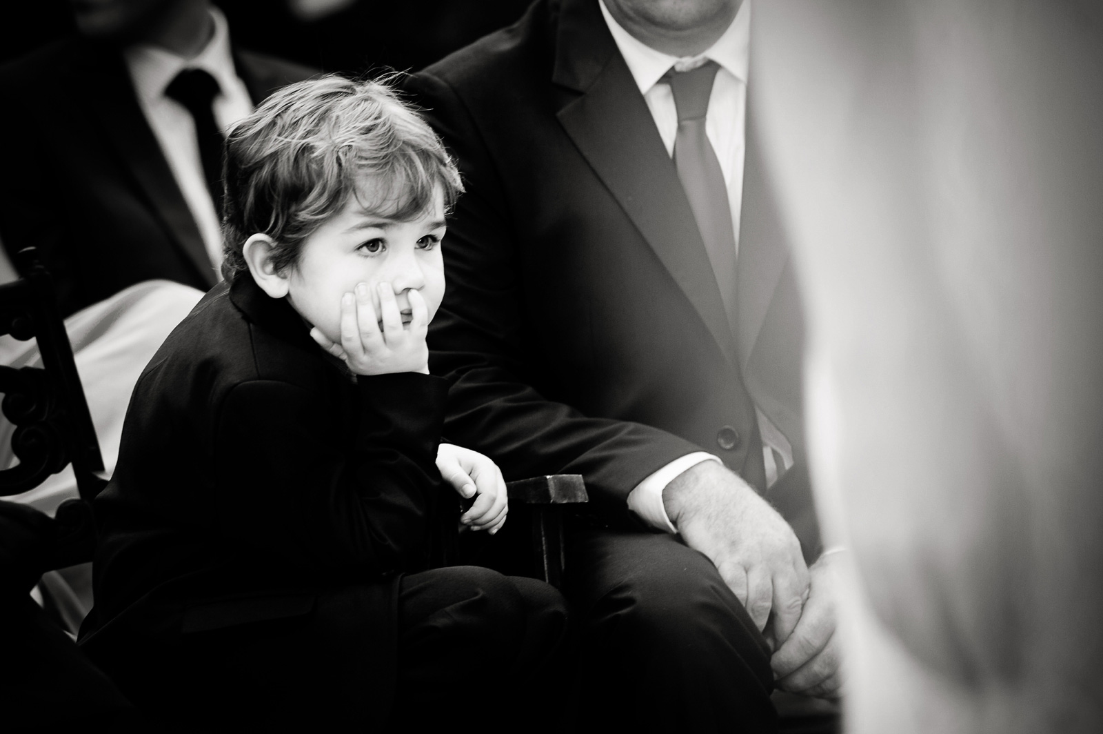 Bored child at wedding