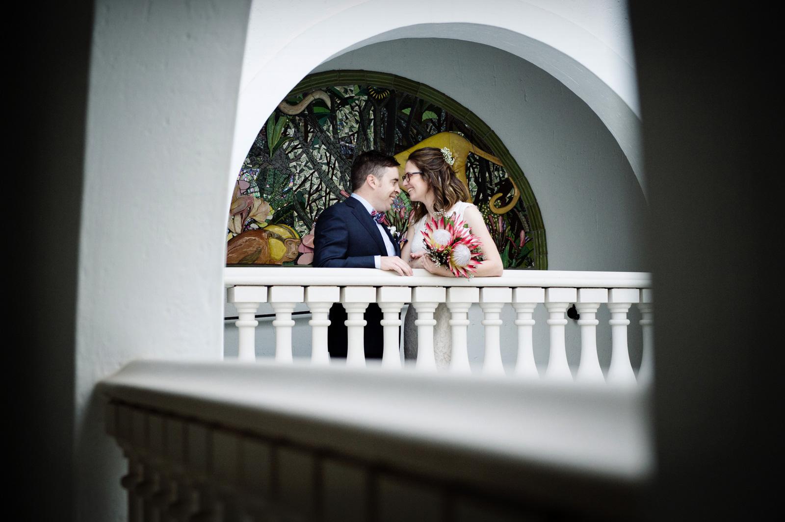 Bride and groom proteas