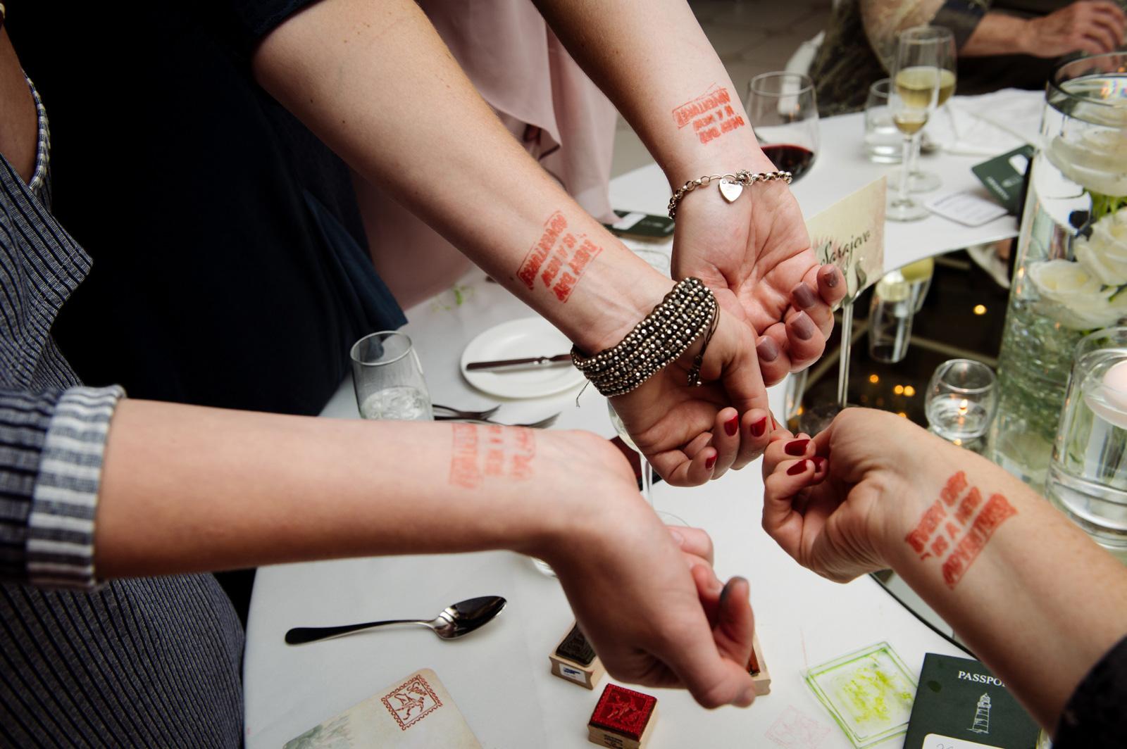 stamps on wrists